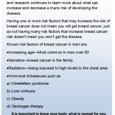 Men & Breast Cancer 1